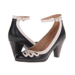 Miz Mooz Callista Ankle Strap Heel Flower Cutout 6